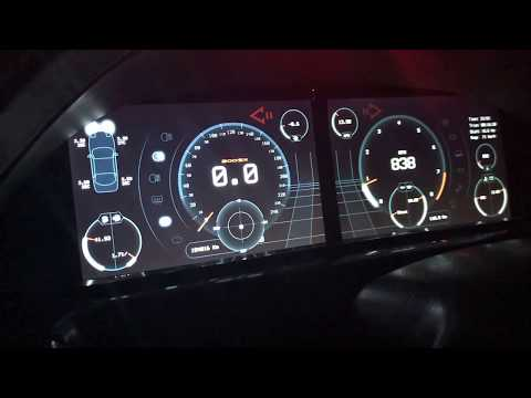 200sx s13 Digital dashboard project update and test drive.