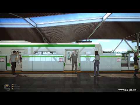 3D Visualization Film | Hanoi Metro Line 2 | Đường tàu điện ngầm Hà Nội