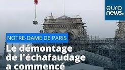 Démontage de l'échafaudage de Notre-Dame de Paris : une opération à risques