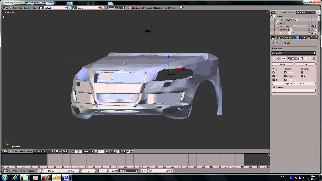 Blender Auto modellieren Test 3 - YouTube