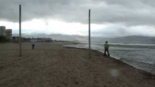 Camping Laguna meivakantie:Smeltwater vloeit in zee