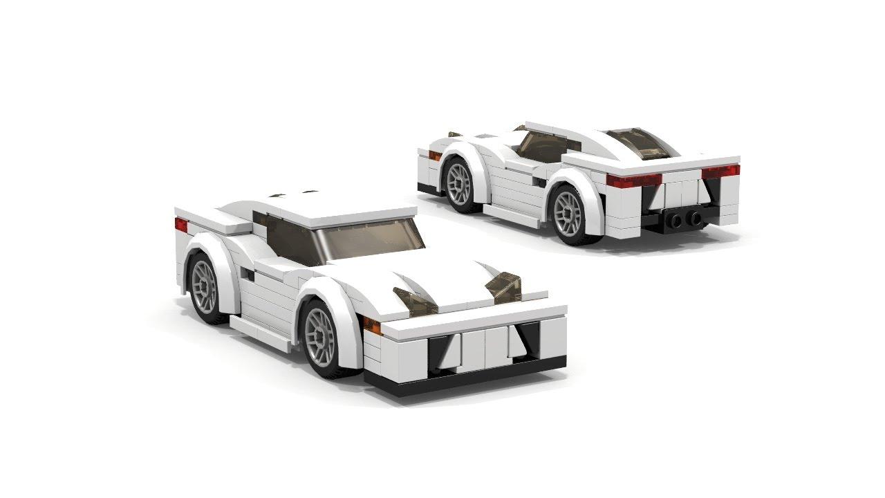 Lego Lexus Lfa Supercar Moc Instructions Youtube