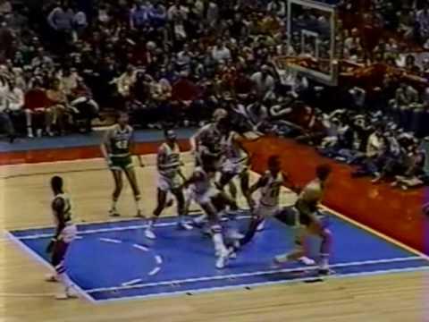 Larry Bird huge dunk on Caldwell Jones (1982)