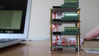 docker load balanced led cluster raspberry pi