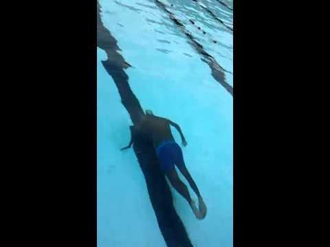 Tejas swims underwater at Mysore university i