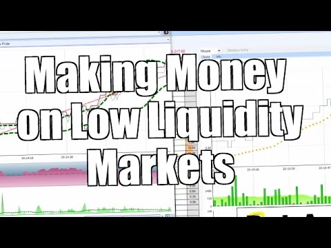 Making money in low liquidity markets - Trading on betting exchanges