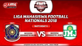 UMM VS UMJ, LIGA MAHASISWA FOOTBALL NATIONALS 2018, 23 Sept 2018