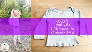 DIY Toddler Shirt & Potty Training Tips with Huggies Pull-Ups Training Pants