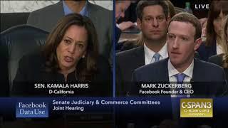 Kamala Harris Questions Mark Zuckerberg