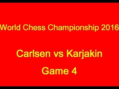 World Chess Championship 2016: Carlsen vs Karjakin Game 4