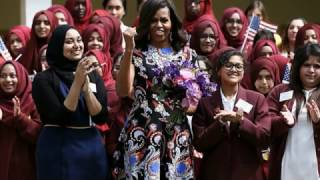 East London schoolgirls: Our Michelle Obama legacy