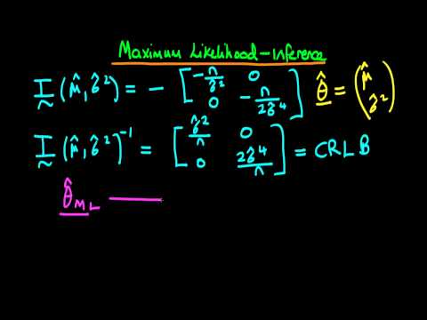 Maximum likelihood: Normal error distribution - estimator variance part 3