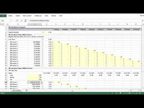 Microsoft Excel: =IRR() vs =XIRR()