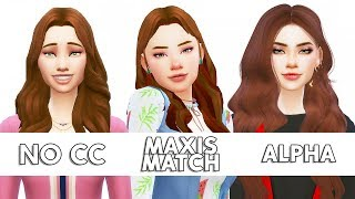 NO CC / MAXIS MATCH / ALPHA / Сим в трёх стилях / CAS