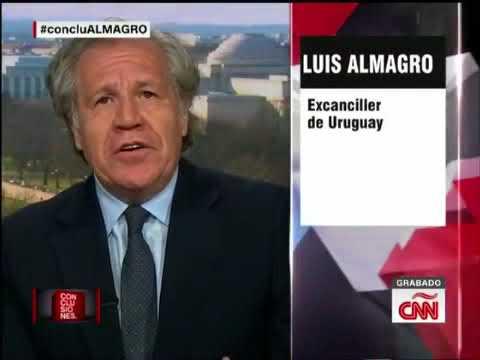 """Luis Almagro en CNN el 12/02/2018 sobre Venezuela: """"Estoy de acuerdo con las sanciones más duras"""""""