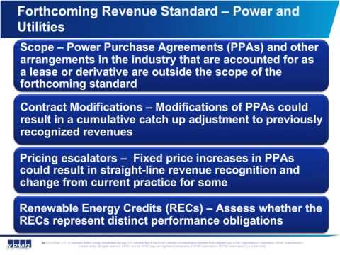 Revenue Recognition Industry supplement - Power and Utilities