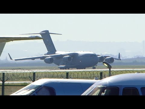 Barack Obama's Visit to Africa, Boeing C-17 Globemaster III Lands at Cape Town International