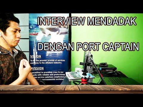 Gugup !! Wawancara dadakan dengan Port Captain UAE