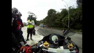 Road Block on Superbike at Genting