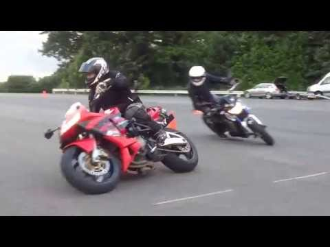 CBR600RR at Moto Gymkhana club night running the A course