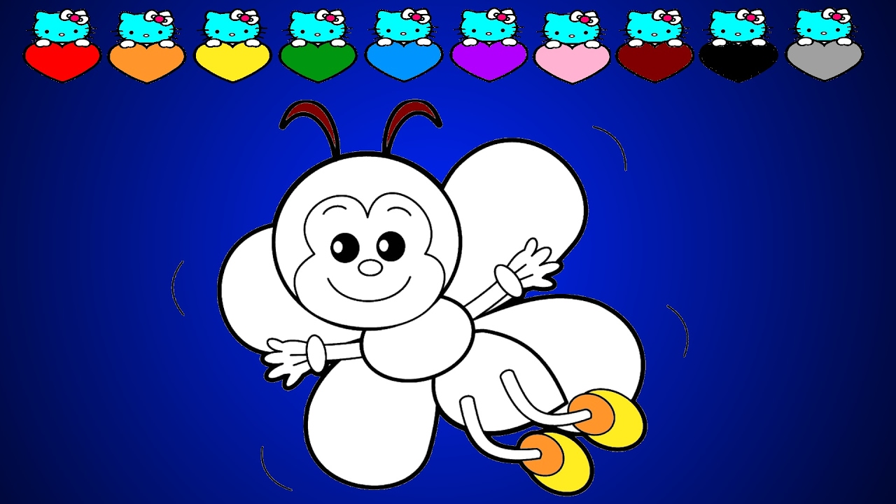 cute bee coloring page coloring pages for kids by azuzu youtube