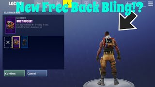 Fortnite New Rust Bucket Back Bling