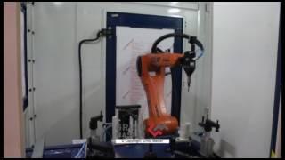 robotic deflashing for motorcycle wheel rim aluminium casting