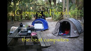 🇺🇸Camping in Florida🇺🇸 R๐ad Trip with campsites ⛺️- and some fantastic things to do there