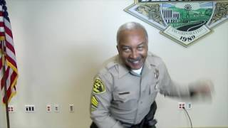 "Sheriff Deputy does the ""Carlton."""
