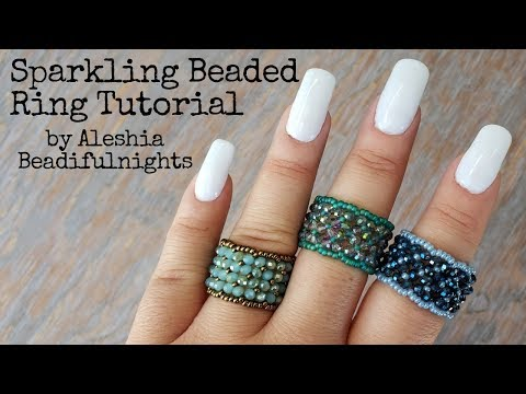Sparkling Beaded Ring Tutorial