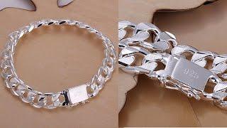 видео Мужские браслеты из серебра