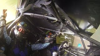 KEN BLOCK EXPLAINS HIS RALLY AMERICA CHAMPIONSHIP ENDING CRASH AT LSPR 2013
