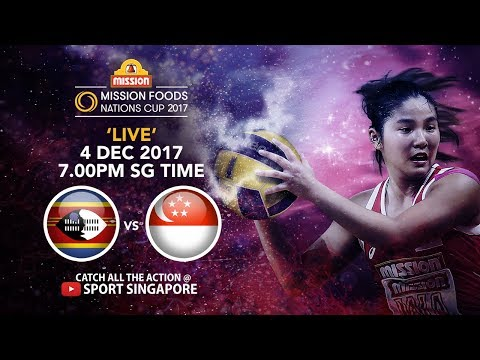 Swazailand 🇸🇿 vs 🇸🇬 Singapore | Mission Foods Nations Cup 2017