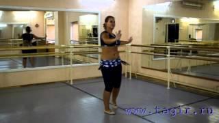 Он-лайн уроки танца живота: Baladi (часть 3 спиной)