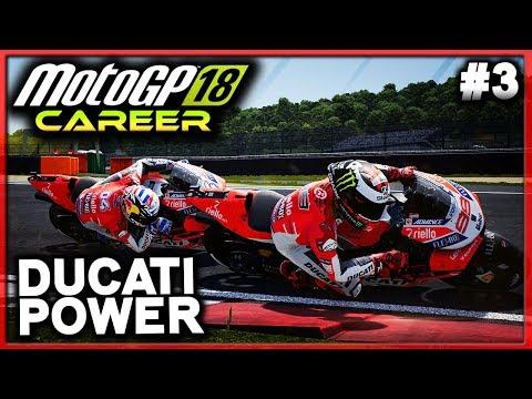 MOTOGP LORENZO CAREER #3 - DUCATI POWER | MotoGP 18 Career Mode (MotoGP 2018 Game PS4)