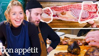 Pro Chef Tries Butchering a Whole Pig for the First Time | Bon Appétit