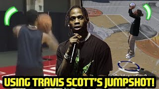 USING TRAVIS SCOTT'S IRL JUMPSHOT AT THE PARK! NBA 2K18 PLAYGROUNDS