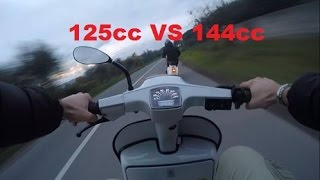 Vespa 50 Special Quattrini (125cc) VS Vespa Primavera Parmakit (144cc) - Niculin93