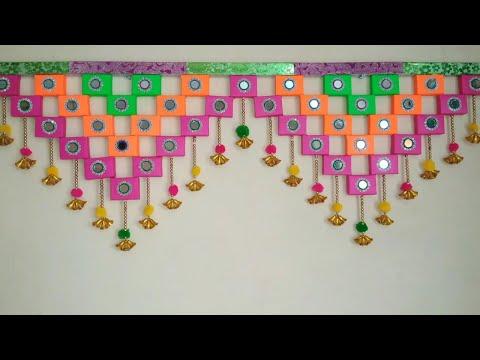 DIY - DOOR HANGING TORAN FROM MATCHBOX MAKING || MATCHBOX CRAFT TORAN DIY || AWESOME TORAN MATCHBOX