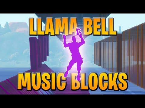 The Llama Bell Emote Song Played Using Fortnite Music Blocks