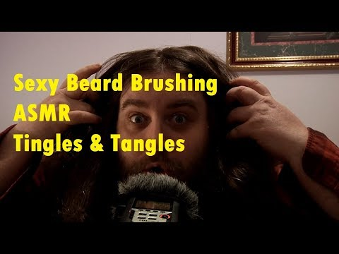 Sexy Beard Brushing {ASMR} (I built us a cabin) Tingles And Tangles