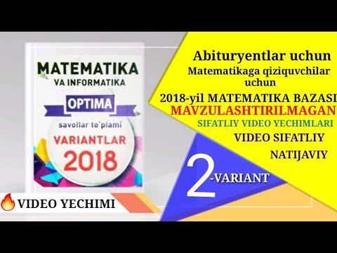 2018-yil variant  tahlil || 2018-yil bazasining  tahlili || 2018-yil variant yec