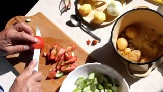 Салат необычный из обычных продуктов