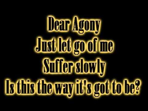 Breaking Benjamin Dear Agony - Lyrics