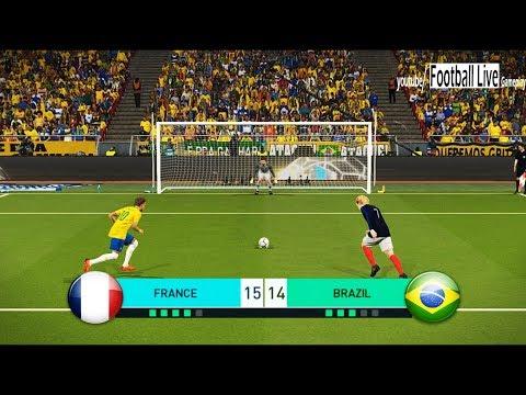 PES 2018 | FRANCE vs BRAZIL | Penalty Shootout | Mbappe vs Neymar | Gameplay PC