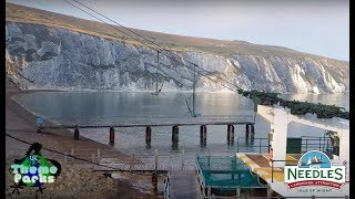 The Needles Landmark attraction Isle of Wight 4K