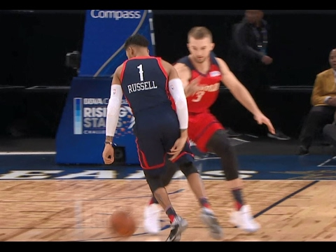 e9fef9a68f13 D Angelo Russell Shows Off His Handles at Rising Stars Challenge!
