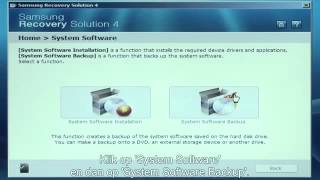 Samsung Recovery Solution 4  systeem software back up