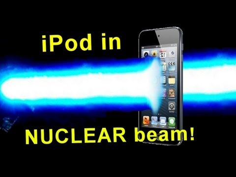 Ipod in a Nuclear Reactor Beam