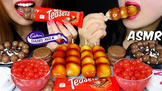 ASMR MALTESERS CHOCOLATE BAR, DANGO, POPPING BOBA, ICE CREAM, CHOCOLATE PIE 리얼사운드 먹방 | Kim&Liz ASMR